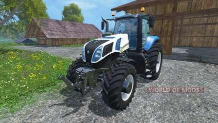 New Holland T8.390 Ultra White 2011 v2.0 for Farming Simulator 2015