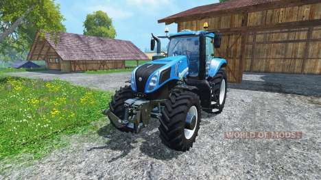 New Holland T8.435 4wheels v0.1 for Farming Simulator 2015
