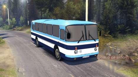 ЛАЗ-699Р blue stripes for Spin Tires