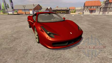 Ferrari 458 Italia for Farming Simulator 2013