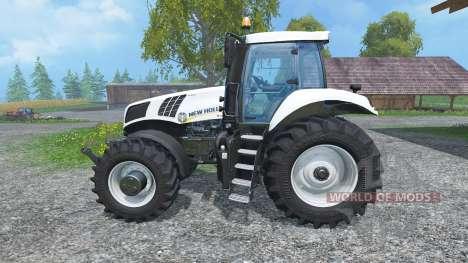 New Holland T8.435 Ultra White v1.3 for Farming Simulator 2015