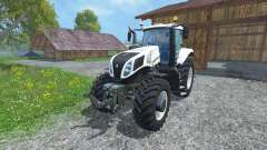 New Holland T8.435 Ultra White v1.3 for Farming Simulator 2015