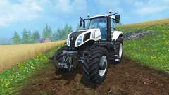 New Holland T8.435 Ultra White v1.31 for Farming Simulator 2015