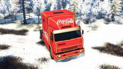KamAZ 54112 eat Christmas without garlands for Spin Tires