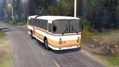 ЛАЗ-699Р orange-brown stripes for Spin Tires