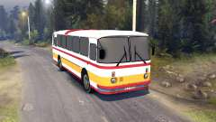 ЛАЗ-699Р red-orange stripes for Spin Tires