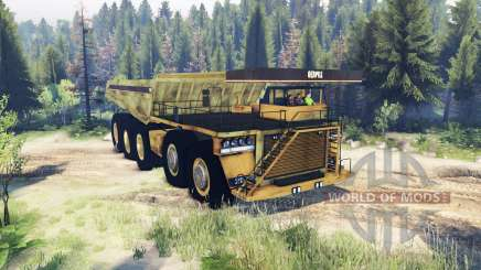 Mining truck 10x10 for Spin Tires