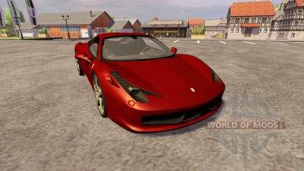 Ferrari 458 Italia for Farming Simulator 2013