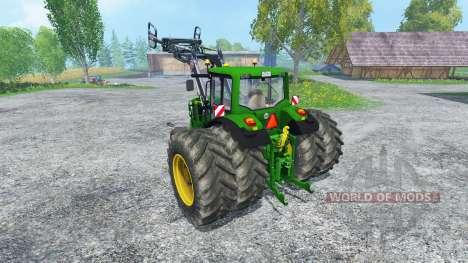John Deere 6130 2WD FL TwinWheels for Farming Simulator 2015
