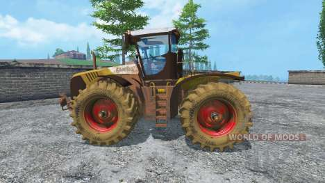 CLAAS Xerion 5000 v2.0 dirt for Farming Simulator 2015