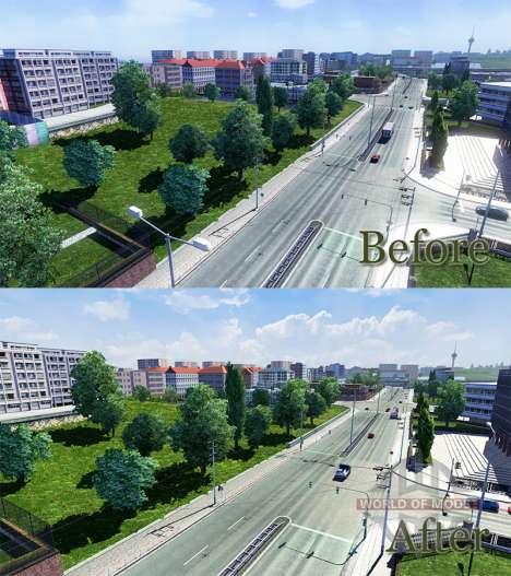 HDR improvement for Euro Truck Simulator 2