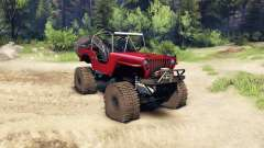 Jeep Willys red for Spin Tires