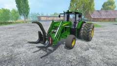 John Deere 6130 2WD FL v2.0 for Farming Simulator 2015