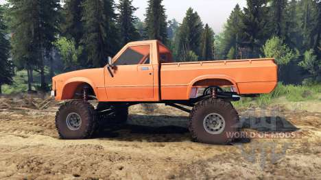 Toyota Hilux Truggy 1981 v1.1 orange for Spin Tires