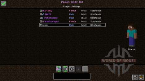 Female Gender Option for Minecraft