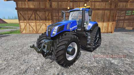 New Holland T8.435 with 200 km-h v1.1 for Farming Simulator 2015