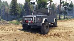 Land Rover Defender 110 dark blue gray for Spin Tires