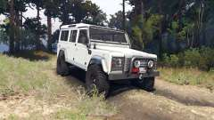 Land Rover Defender 110 white for Spin Tires