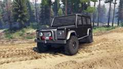Land Rover Defender 110 black for Spin Tires