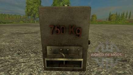 Homemade 750kg for Farming Simulator 2015