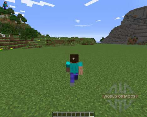 Character On GUI for Minecraft