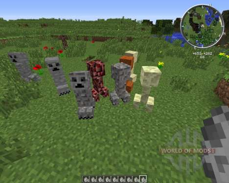 Material Creepers for Minecraft