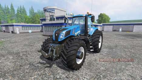 New Holland T8.320 600EVOX v1.11 blue for Farming Simulator 2015