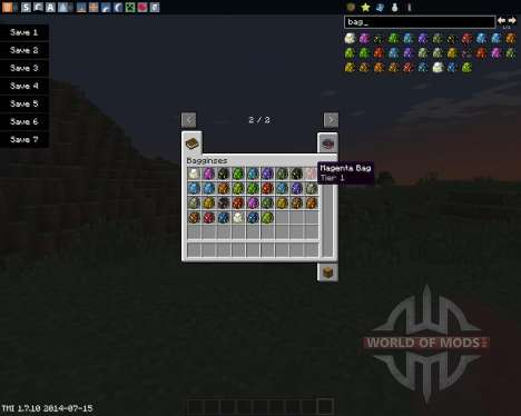 Bagginses for Minecraft