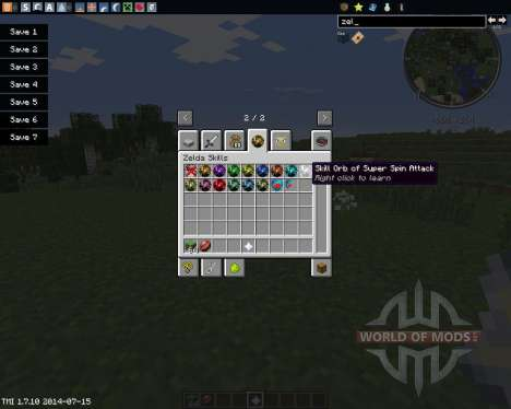 Zelda Sword Skills for Minecraft