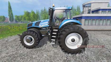 New Holland T8.320 with twin dynamic rear wheels for Farming Simulator 2015