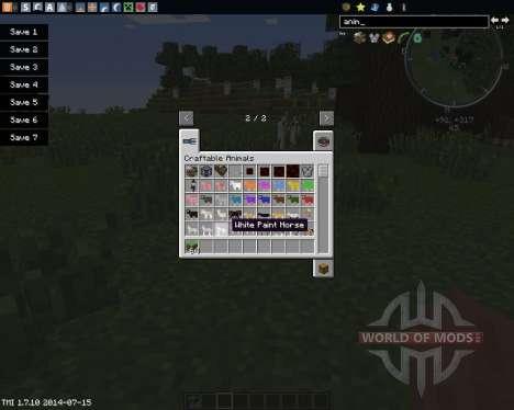 Craftable Animals for Minecraft