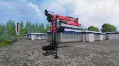 The hydraulic crane Palfinger Epsilon M80F for Farming Simulator 2015