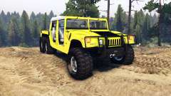 Hummer H1 6x6 Raptor for Spin Tires