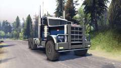 Peterbilt 379 black blue for Spin Tires