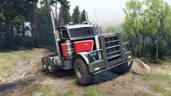 Peterbilt 379 red black for Spin Tires