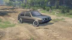 Volkswagen GOLF MK2 GTI for Spin Tires