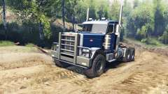 Peterbilt 379 v1.1 dark blue for Spin Tires