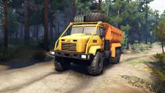 KrAZ-6322 v3.0 yellow for Spin Tires