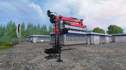 The hydraulic crane Palfinger Epsilon M80F for Farming Simulator 2015