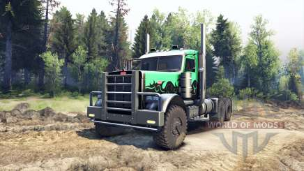 Peterbilt 379 green and black for Spin Tires