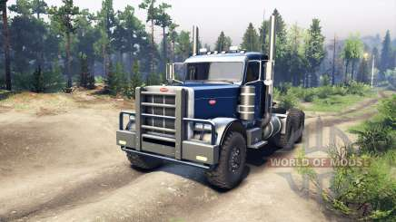 Peterbilt 379 dark blue for Spin Tires