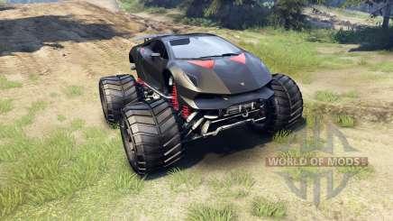 Lamborghini Sesto Elemento Monster Truck for Spin Tires