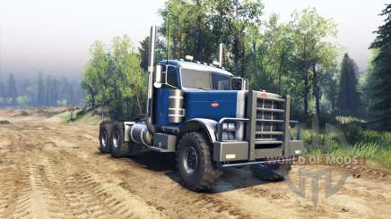 Peterbilt 379 light blue for Spin Tires