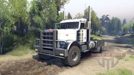 Peterbilt 379 white for Spin Tires