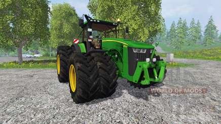 John Deere 8370R v2.0 Ploughing Spec for Farming Simulator 2015