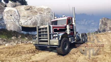 Peterbilt 379 v1.1 red and black stripe for Spin Tires