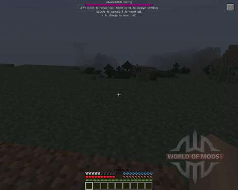 Advanced HUD [1.7.2] for Minecraft