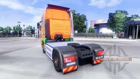 Skin Van Der Vlist on the truck MAN for Euro Truck Simulator 2