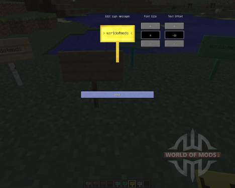 MoarSigns [1.6.4] for Minecraft