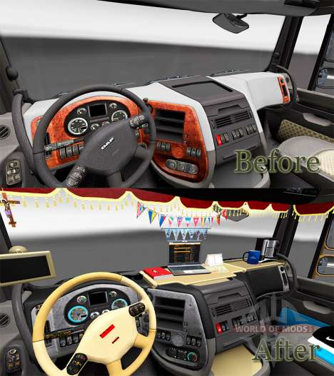 New interior DAF trucks for Euro Truck Simulator 2
